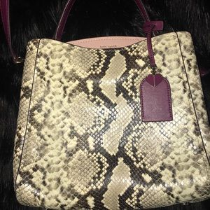KATE SPADE DOUBLE COMPARTMENT FLEUR SNAKESKIN
